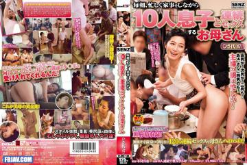 SDDE-352 Every Morning, Mom Hisa-dai Continuous Sex With 10 Sons While The Busy Housework (47)